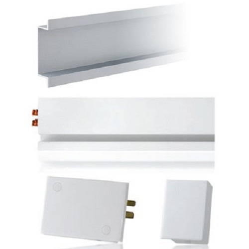 MAINLINE Starter Kit Left Terminal Block with Flush Mount Housing [MLWLF] - White - Power Track